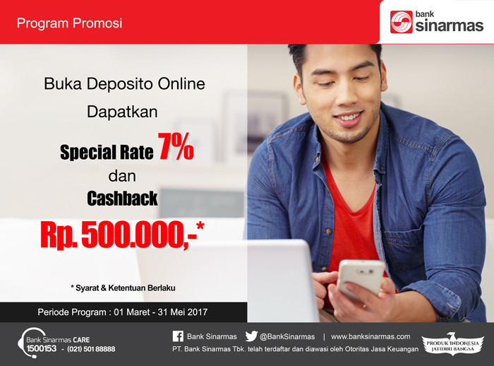 Program Deposito Online Bunga 7 Dari Bank Sinarmas Om Sciens